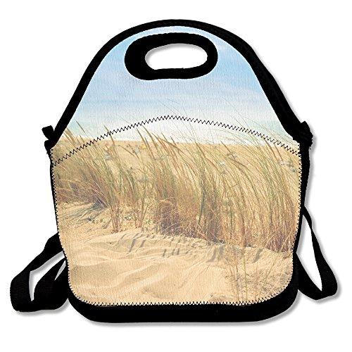 Futonghuaxia sea-beach-sand-sun casual Outdoor lunch bag lunch box borsa termica per il pranzo della borsa per il pranzo, picnic per scuola lavoro ufficio, regalo per le donne