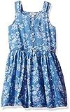 Calvin Klein Toddler Girls' Discharge Printed Sundress, Dusk, 3T