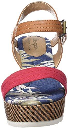 Wrangler Indigo Jeena, Women's Wedge Heel Platform Sandals Red - Rot (87 Red)