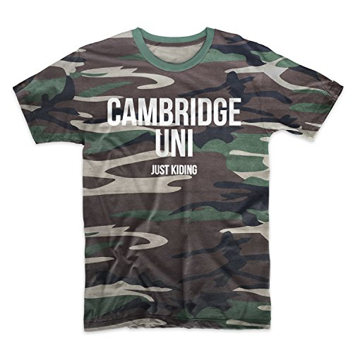 Cambridge Uni Just Kidding Camouflage Men's T-Shirt Camo X-Large (Swag Cambridge)