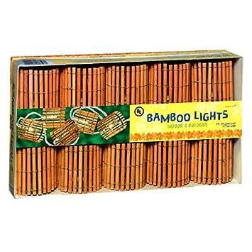 Amazon Com Grasslands Road Tiki Bamboo Barrel Patio Light Set