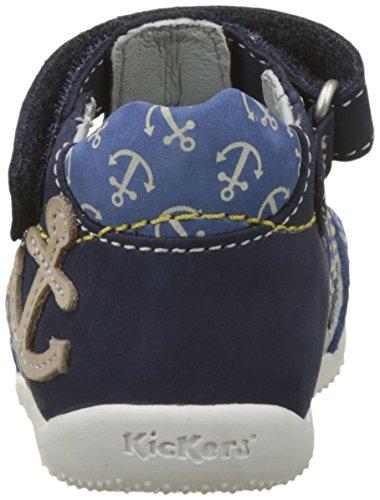 Sandales Kickers Balneaire Marine Bleu Bébé Garçon Beige UFp7FAq