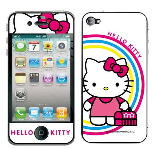 HJX Body Decal Cute Hello Kitty Skin Sticker Front and Back for Apple iPhone 4 / 4S A-2006-5