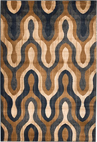 Summit S75 Venice Blue beige Trellis Area Rug Modern Abstract Rug Many Sizes Available  (2x3 door mat Actual is 22 inch x 35 inch)
