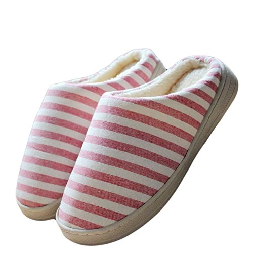 CYBLING Womens Winter Cute Plush Soft Anti-slip House Slippers Red vsXpB0