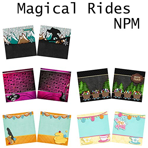 MAGICAL RIDES Non-Photo-Mat - Scrapbook Set - 5 Double Page Layouts