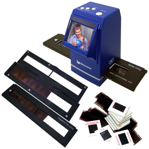 Wolverine F2D300 7.3MP 35mm Slides and Negatives to Digital Image Converter (Blue) by Wolverine