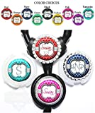 personalized stethoscope - Personalized Quatrefoil and Polka Dots Standard or Yoke Stethoscope Id Tag