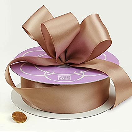 38 inch x 100 yards of Toffee Double Face Satin Ribbon