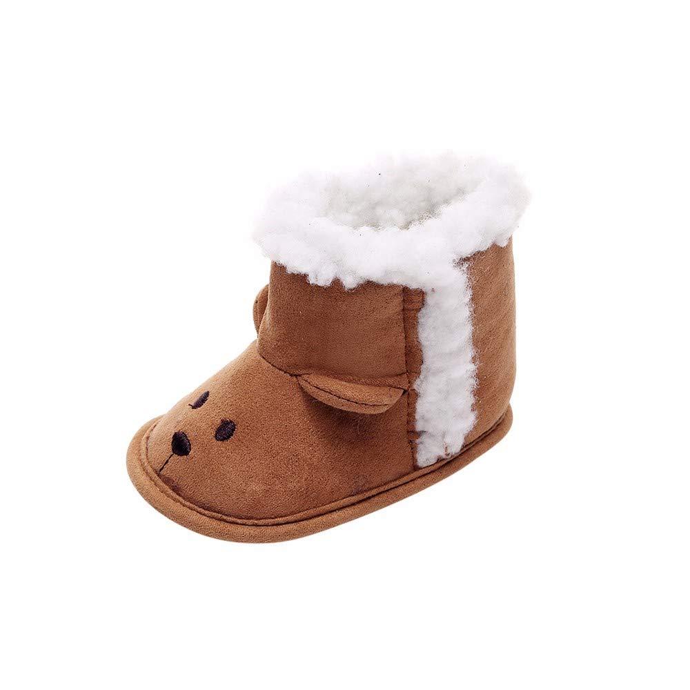 Jaysis Kleinkind Baby Jungen Mädchen Panda Hausschuhe Schuhe Warme Fleece Winter Stiefel Stiefel, Säugling Halten Warmen Plüsch-Weiche Schnee-Stiefel Winterstiefel Schneeschuhe