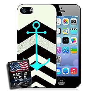 Colorful Black Chevron Aquamarine Anchor For SamSung Note 4 Phone Case Cover Hard Case
