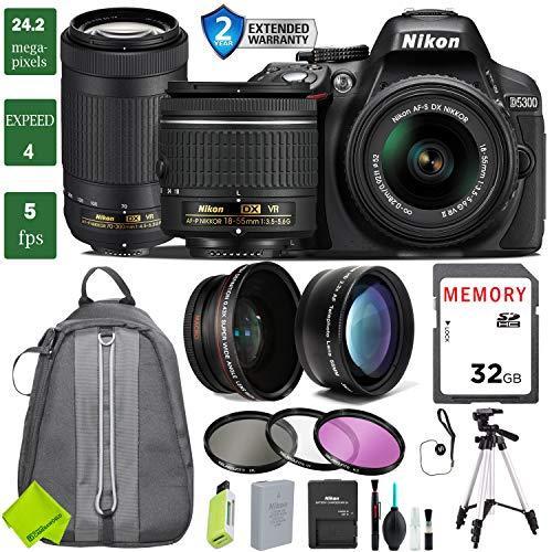 era with 18-55mm Lens Bundle 3 (18-55mm VR & Nikon 70-300mm VR, 2 Year Extended Warranty) ()