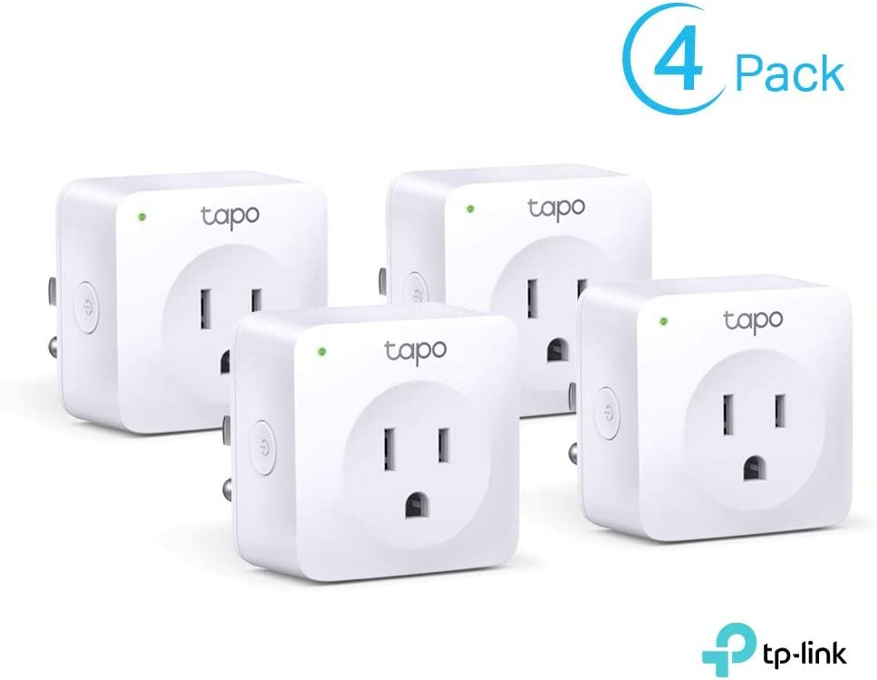 TP-Link Tapo Smart Plug Mini, Smart Home Wifi Outlet Works with Alexa Echo & Google Home, No Hub Required, New Tapo APP Needed (P100 4-pack)