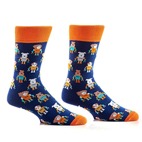 - Yo Sox Animal Inspired - Funky Men's Crew Socks for Dress or Casual Wear Size 7-12 for Dress or Casual Wear Size 7-12 (Men's 7-12, Astro)
