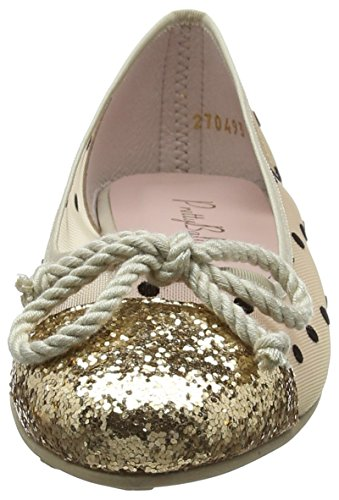 Pretty Greco Or Ballerines Marilyn kylie Ballerinas Gold Femme YOYr6