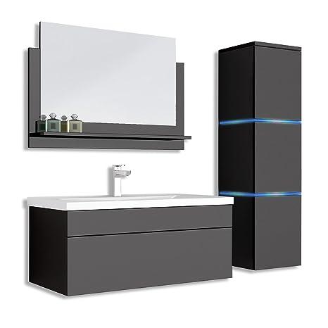 Bagno Mobili E Accessori.Home Deluxe Set Di Mobili Da Bagno Wangerooge Big Nero