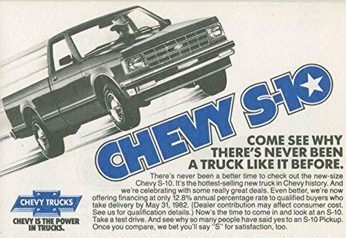 1982 Chevrolet S10 Pickup Truck ORIGINAL Factory Foldover Postcard