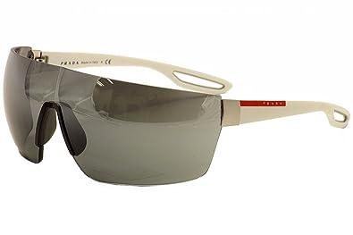 50624724296bd Amazon.com  Prada Sport 01QS TWK1B0 White 01QS Visor Sunglasses Lens  Category 3  Shoes