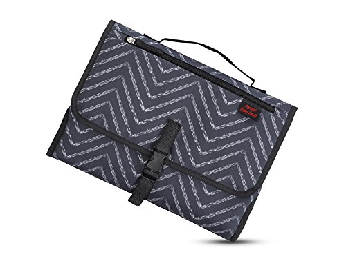 Portable Changing Pad - Premium Quality Travel Station - Diaper Baby Clutch Kit - Baby Diapering - Entirely Padded - Detachable, Wipeable Mat - Mesh and Zippered Pockets - Best Baby Shower Gift Idea! from Crystal Baby Smile