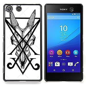 For Sony Xperia M5 E5603 E5606 E5653 Case , Letra inicial V Art Pen Tile Monster - Diseño Patrón Teléfono Caso Cubierta Case Bumper Duro Protección Case Cover Funda