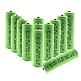Warm-house 12 Piece Set 1.2v AA NiCd 600mAh Rechargeable Battery for Solar light Lamp