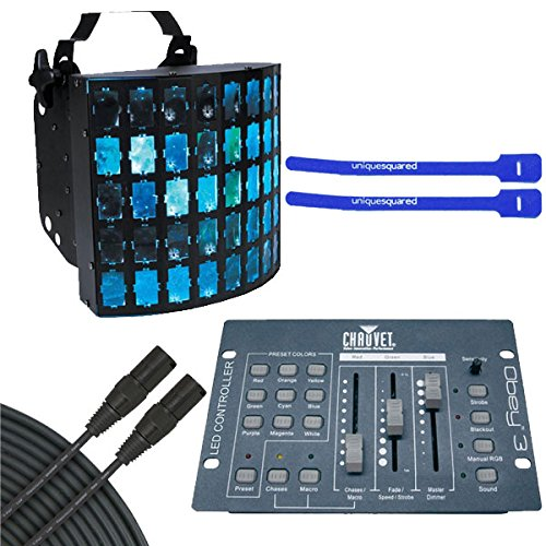 American DJ Dekker LED DMX-512 w/ Obey 3 & 25' DMX Cable & Cable Ties