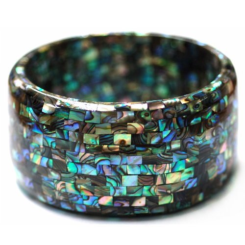 Mother Of Pearl Abalone Mosaic - Tailor B Mosaic Mother of Pearl Bangle Mosaic Abalone Shell (Natural Color)