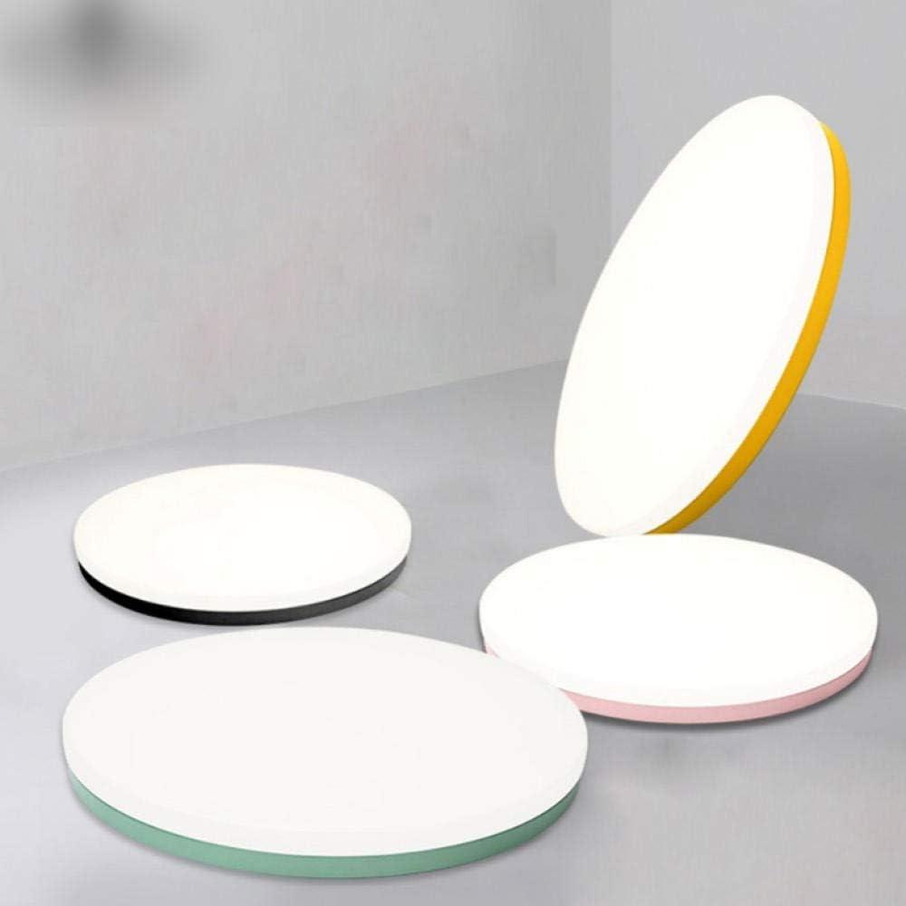Macaron plafones ultradelgados 5cm hierro forjado modernas luces de techo led para sala de estar dormitorio sala de estudio-Green_RC_dimmable_36W_48cm