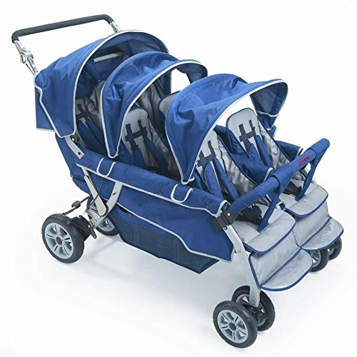 Children's Factory Surestop Folding Commercial Bye-Bye Stroller, 6 Passenger by Children's Factory