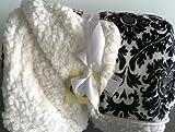 Softest Blanket Ever Black Fleur