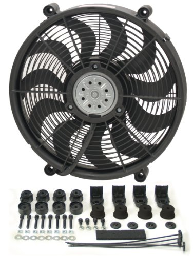 "Derale 16217 17"" High Output Radiator Fan"