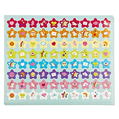 Blue Panda Potty Training Reward Chart - Pack of 50 Sheets and 800 Stickers, Cute Colorful Unicorn Themed Toilet Training Kit for Girls, Motivational and Positive Reinforcement, 10.3 x 8.3 Inches: Toys & Games
