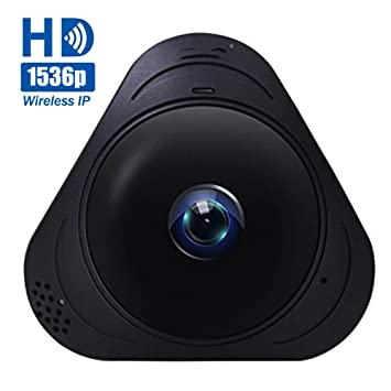 1536P IP Cámaras de Vigilancia Wifi, Cámara de Seguridad Panorámica de 360°, Deteccion de Movimiento con Visión Nocturna de Infrarrojos /2 way talking/para ...