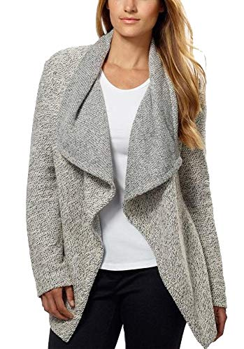 BNCI by Blanc Noir Ladies' Wool Blend Cardigan, Black/White, X-Large