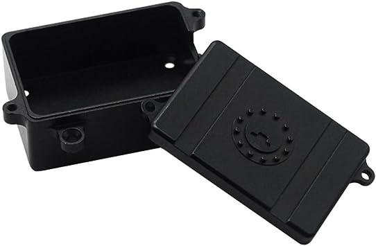 Fenteer Caja de Receptor de Radio ESC Receiver Box para 1:10 RC Coches Auto D90 D110 Axial SCX10 Crawler Cars