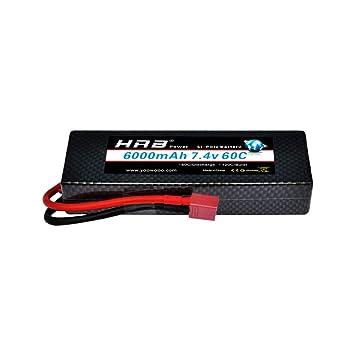 HRB batería de Lipo del Paquete 7,4V 6000MAH 2S 60C para la manía ...