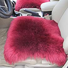 GAOFEI Universal Full Set of Deluxe Sheep Skin Wool Car Seat Cover Chair Pad-3 pieces