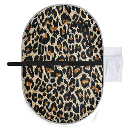 Jacksome Leopard Changing Pad Portable Changing Pad Lightweight Travel Station Kit for Baby Diapering Diaper Changing Pad Diaper Clutch Diaper Pouch Diaper MatTravel Changing Mat