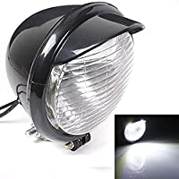 KATUR Motorcycle 25 LED Headlight Black Case For Harley Chopper Bobber Custom