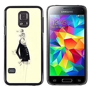 Be Good Phone Accessory // Dura Cáscara cubierta Protectora Caso Carcasa Funda de Protección para Samsung Galaxy S5 Mini, SM-G800, NOT S5 REGULAR! // Old Man White Beard Portrait Ar