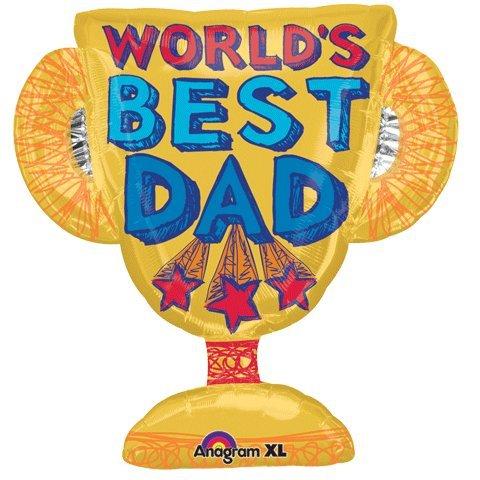 (amscan Worlds Best Dad Trophy Shape 27