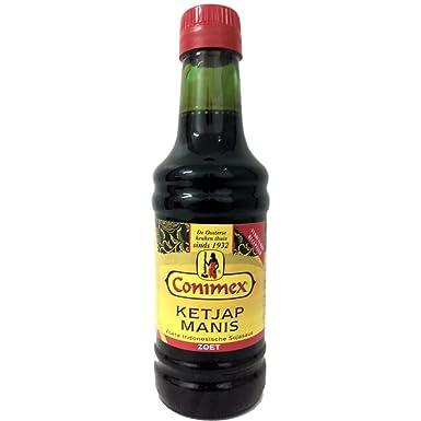 Con protector dorsal Conimex Ketjap, dulce nexos Trading Sauce Soja, Soja, Salsa, especias, 250 ml: Amazon.es: Alimentación y bebidas