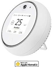 Koogeek 2.8 '' Inteligente Wi-Fi Calidad del aire interior Monitor de temperatura Temperatura Humedad Luz Sonido El sensor de movimiento funciona con la luz nocturna de Apple HomeKit LED