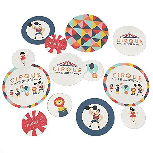Carnival Circus - Cirque du Soiree - Baby Shower or Birthday Party Table Confetti - 27 (Vintage Carnival Decorations)