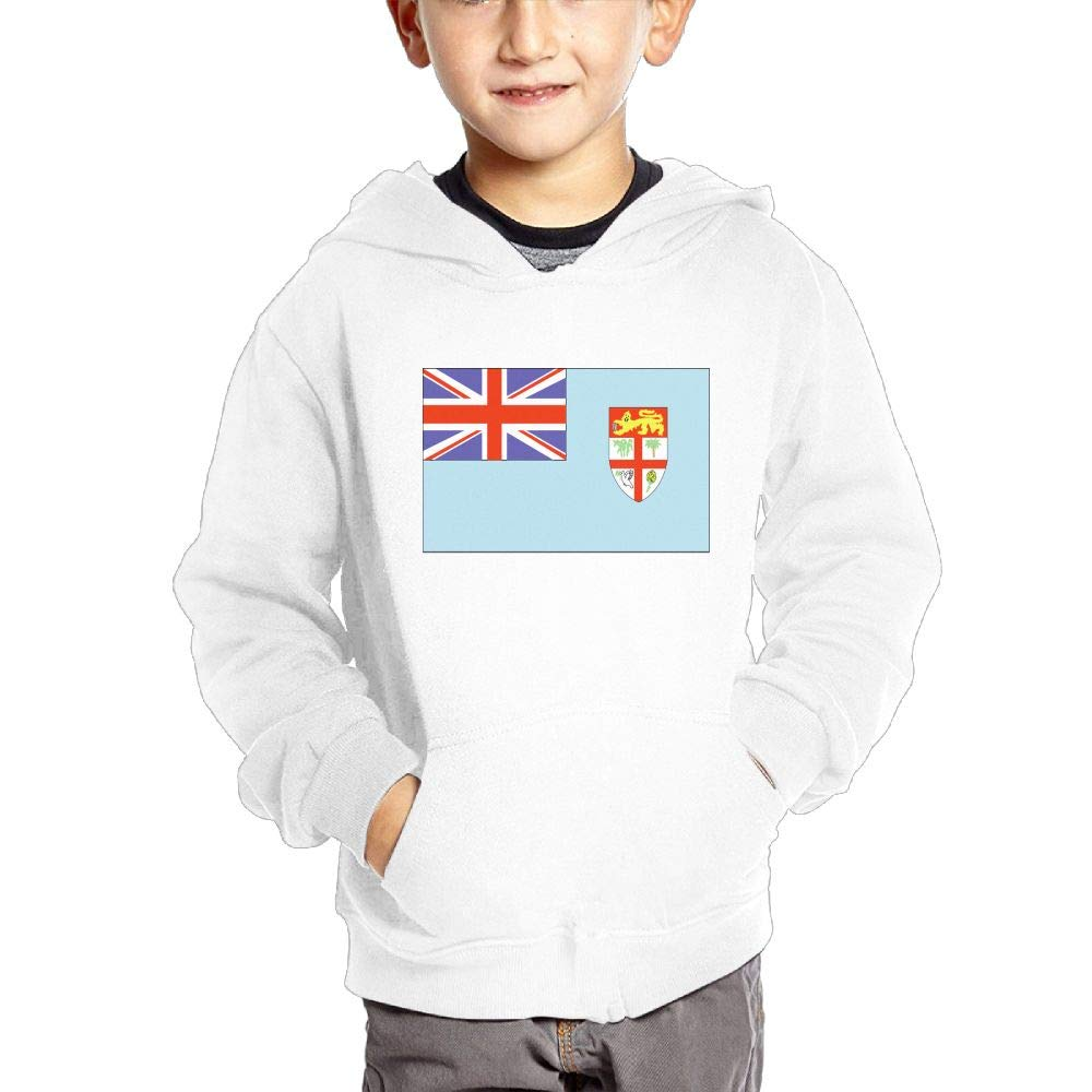 JIANGSHAN Fiji Flag Fashion Hooded Pocket Sweater for Children Spring//Autumn//Winter Outfit Long-Sleeved Hoodie