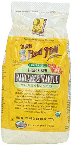 Bob's Red Mill, Pancake & Waffle Mx, Hi Fiber, Organic, 26 oz