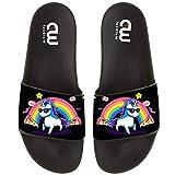 Rainbow Unicorn Donut Cake Summer Slides Slippers For Boy Girl Outdoor Beach Sandal Shoes size 2