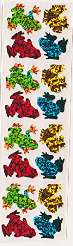 (Rainforest Tree Frogs Glitter Stickers - 2 Sheets)