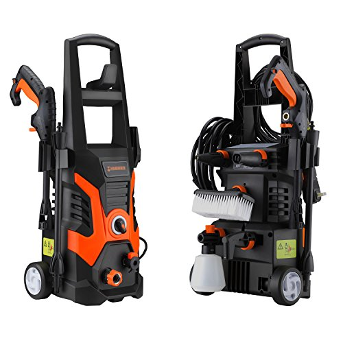 Hephaestus Electric Pressure Washer 1900 PSI 1.5GPM 13 AMP Power Washer with 3 Various Nozzles Soap Dispenser and wash Brush