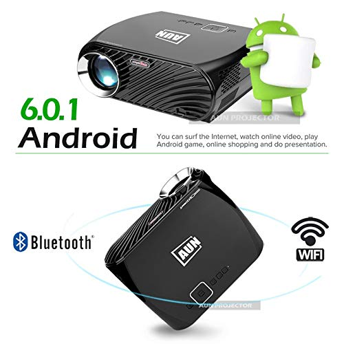 Aidashine Proyector Video Home TV Theater, LED Android 6.0.1 WiFi ...